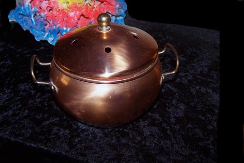 Copper-Brass Potpourri Holder - 5 x 6 inches