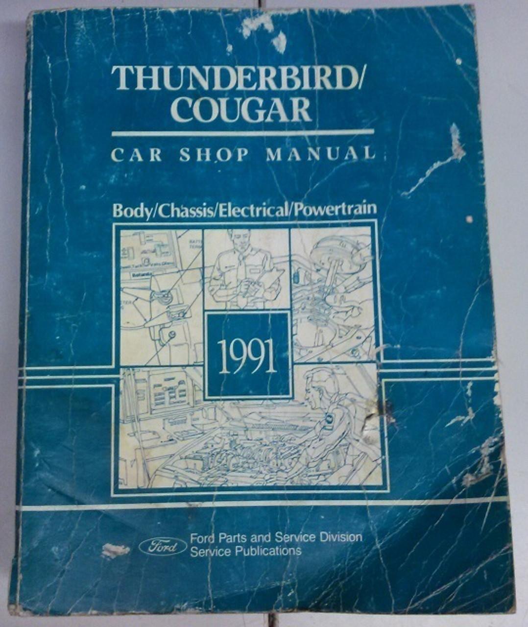 1991 Thunderbird Cougar Electrical Vacuum And Service Manual Set