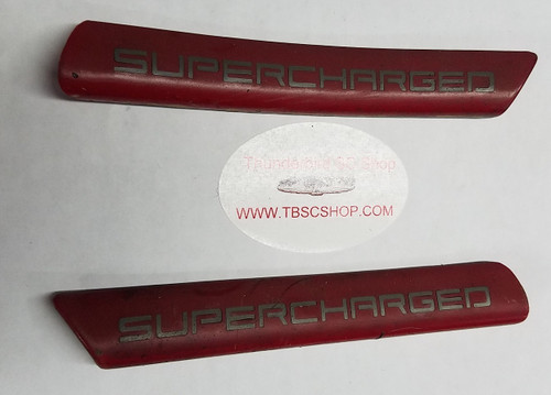 Exterior Fender Molding - XR7 - Supercharged - Red - Set - 1989 - 1993 Thunderbird and Cougar - WWW.TBSCSHOP.COM