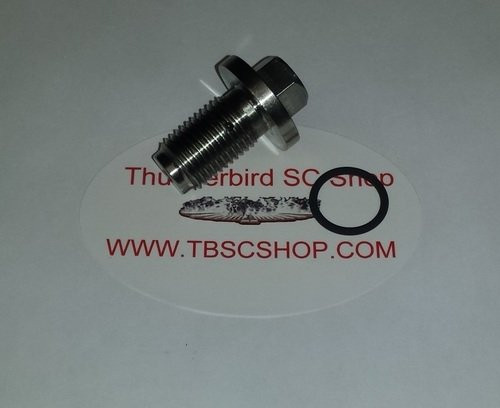 Thermostat Housing Bleed Bolt - Stainless Steel - 3.8L - 1989 - 1997 Thunderbird and Cougar - WWW.TBSCSHOP.COM