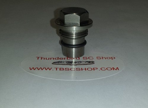 Lincoln Mark VIII Cobra - Cross Over Tube Plug - Stainless Steel - 4.6L DOHC - www.tbscshop.com