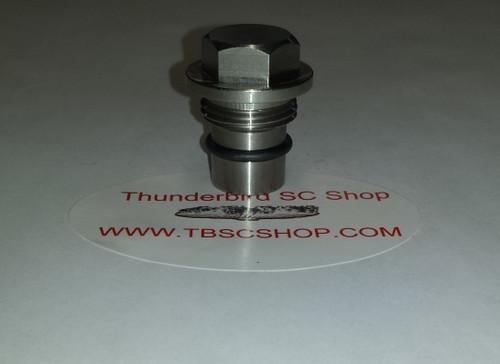 Lincoln Mark VIII Cobra - Cross Over Tube Plug - Stainless Steel - 4.6L DOHC - www.tbscshop.com