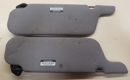 1989 - 1995 - Thunderbird and Cougar Sun Visor - Gray - Set - Lighted - without OEM Sunroof - WWW.TBSCSHOP.COM