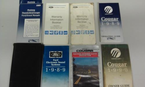 1989 Cougar XR7 Owners Manual - WWW.TBSCSHOP.COM