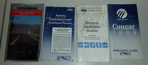 1989 Cougar XR7 Owners Manual Inserts - WWW.TBSCSHOP.COM