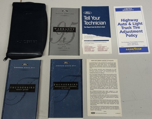 1995 Thunderbird Owners Manual Collection - WWW.TBSCSHOP.COM
