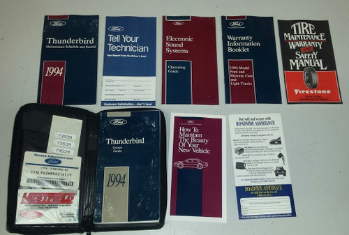 1994 Thunderbird Owners Manual Collection - WWW.TBSCSHOP.COM