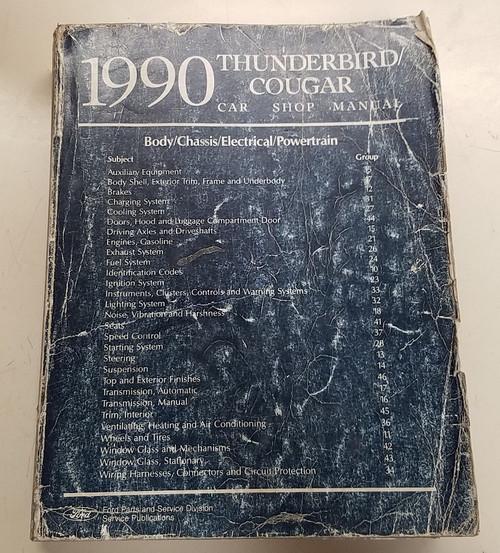 1990 Thunderbird  Cougar OEM Car Shop Manual - FPS-12196-90 - WWW.TBSCSHOP.COM