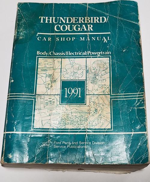 1991 Thunderbird Cougar OEM Car Shop Service Manual FPS-12196-91