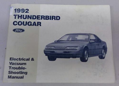 1992 Thunderbird  Cougar Electrical & Vacuum Manual - FPS-12116-92 - WWW.TBSCSHOP.COM
