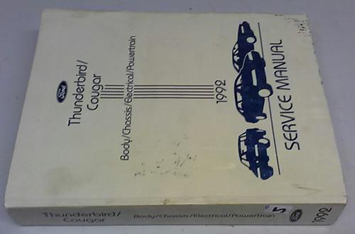1992 Thunderbird  Cougar OEM Car Shop Manual - FPS-12196-92 - WWW.TBSCSHOP.COM