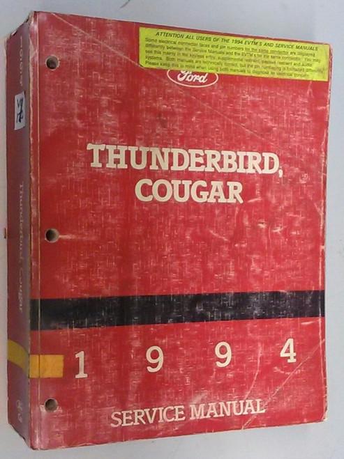 1994 Thunderbird  Cougar OEM Car Shop Manual - FPS-12196-94 - WWW.TBSCSHOP.COM