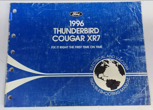 1996 Thunderbird  Cougar Electrical & Vacuum Manual - FCS-12116-96 - WWW.TBSCSHOP.COM