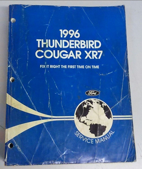 1996 Thunderbird  Cougar OEM Car Shop Manual - FCS-12196-96 - WWW.TBSCSHOP.COM