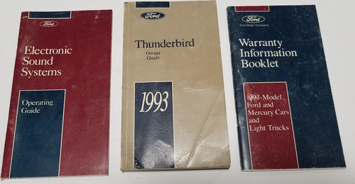 1993 Thunderbird Owners Manual Collection No Case
