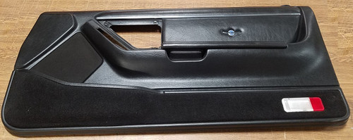 1989 - 1990 Thunderbird Cougar Door Panel - Black - Passenger - 35th Anniversary Leather Insert - WWW.TBSCSHOP.COM
