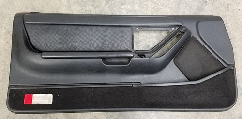 1991 - 1993 Thunderbird Cougar Door Panel - Black - Driver - Leather Insert - WWW.TBSCSHOP.COM