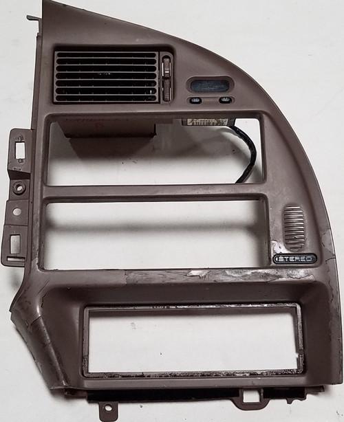 1994-1997 Thunderbird Cougar Dash Radio Finishing Panel Bezel Tan Grade C