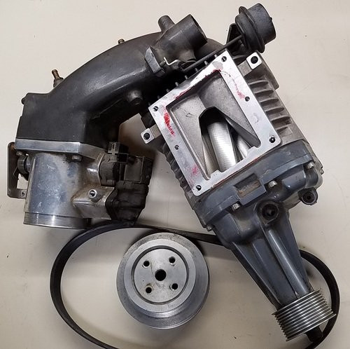 1989 - 1995 MPx of Supercharger with Inlet Plenum and Pulley - WWW.TBSCSHOP.COM