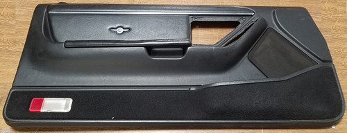 1989 - 1990 Thunderbird Cougar Door Panel - Black - Passenger - 35th Anniversary Leather Insert - WWW.TBSCSHOP.COM