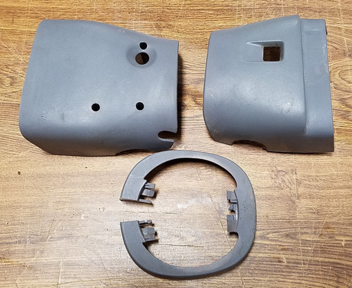Steering Column Finishing Panels - LX - Gray - 1989 - 1993 Thunderbird and Cougar - WWW.TBSCSHOP.COM
