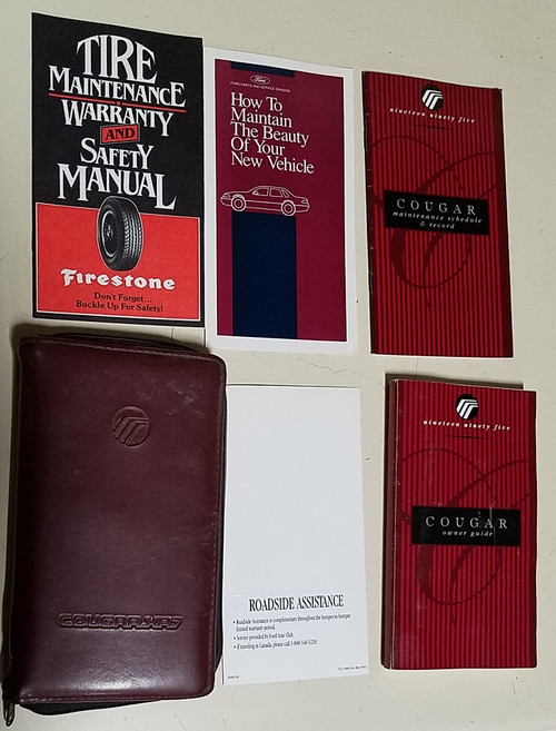 1995 Mercury Cougar Manual Collection - WWW.TBSCSHOP.COM