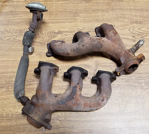 1989 - 1993 Thunderbird SC Exhaust Manifold with EGR Tube and Valve - Set - WWW.TBSCSHOP.COM