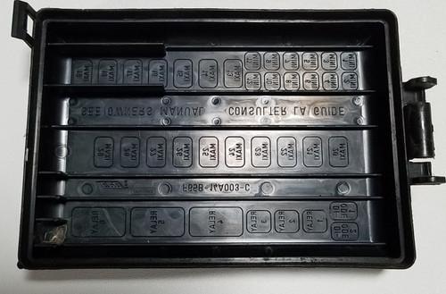 1997-1998 lincoln mark viii fuse box cover 4 6l dohc