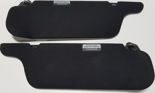 1989 1990 1991 1992 1993 Thunderbird Cougar Sun Visor Set Black Non-Lighted Grade A