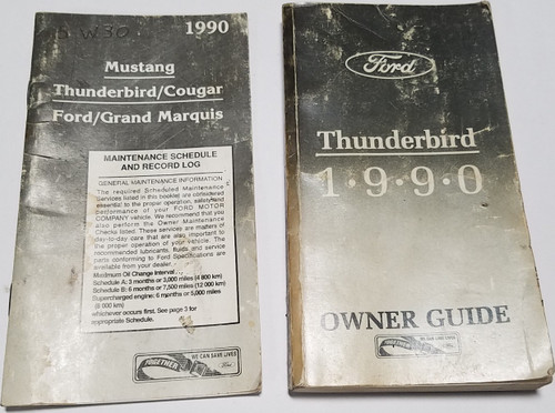 1990 Thunderbird Owners Manual