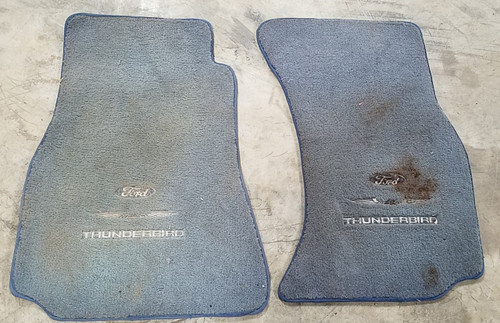 1989 90 91 92 93 94 95 96 1997 Thunderbird Custom Floor Mat Set - Blue