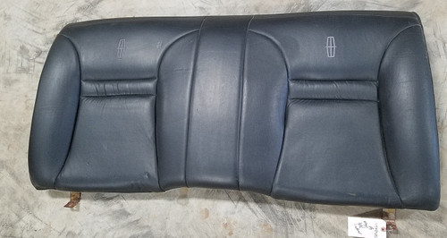 1993 1994 1995 1996 Lincoln Mark VIII Rear Seat Back Black  Leather with Emblem