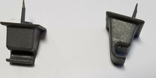1983-1988 Ford Thunderbird Mercury Cougar Sun Visor Clip Set Gray