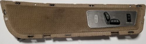 1984-1992 LINCOLN MARK VII DOOR PANEL PAD Insert with Switch Tan Cloth LH