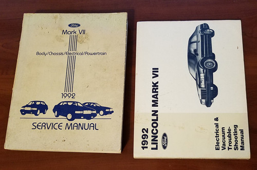 1992 Lincoln Mark VII Electrical Vacuum & Service Manual Set