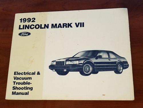 1992 Lincoln Mark VII Electrical Vacuum Manual EVTM