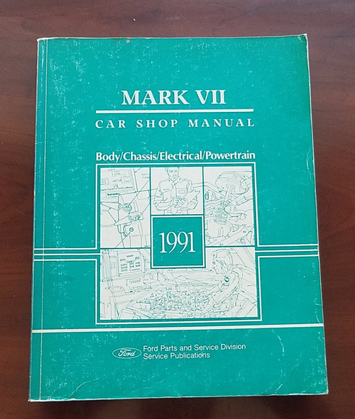 1991 Lincoln Mark VII Service Shop Manual FPS-12192-91
