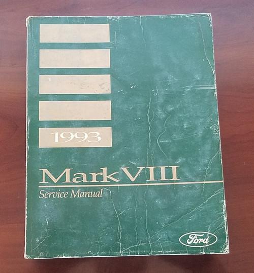 1993 Lincoln Mark VIII Service Shop Manual FPS-12192-93