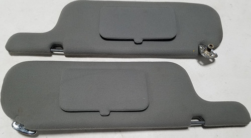 1983-1988 Ford Thunderbird Mercury Cougar Sun Visor Set Gray