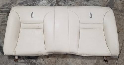 1993 1994 1995 1996 Lincoln Mark VIII Rear Seat Back Ivory Leather with Emblem