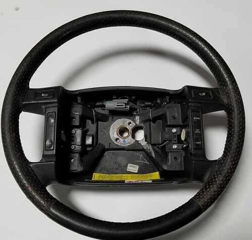 1990-1992 LINCOLN MARK VII Steering Wheel with Switches Grade C