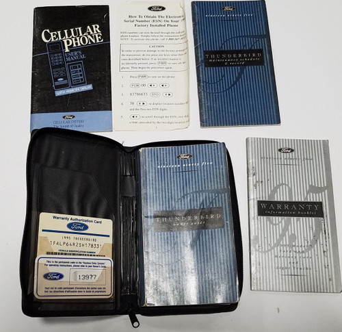 1995 Thunderbird  Owners  Manual Collection with Cell Phone Option