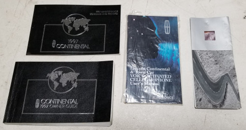 1997 Lincoln Continental Owners Manual Set OEM