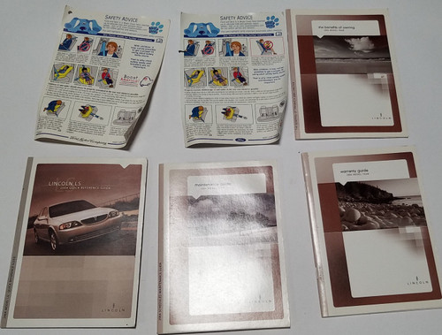 2004 Lincoln LS Owner's Guide Manual with Inserts