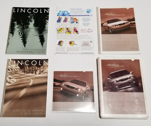 2003 Lincoln LS Owner's Guide Manual Inserts