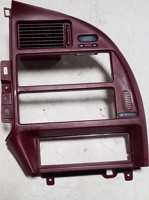 1994 1995 1996 1997 Thunderbird Cougar Dash Radio Finishing Panel Bezel Red Grade A