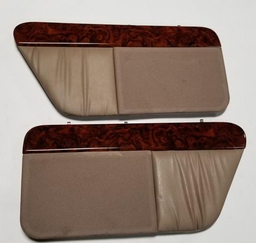 Rear Speaker Cover Tan Wood Grain Set 1992-1993 Thunderbird Cougar