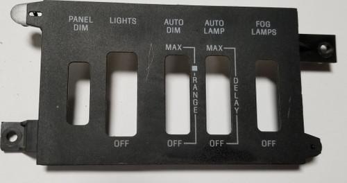 1984-1989 LINCOLN MARK VII HEADLIGHT Fog light Auto Dimmer SWITCH Finishing Panel