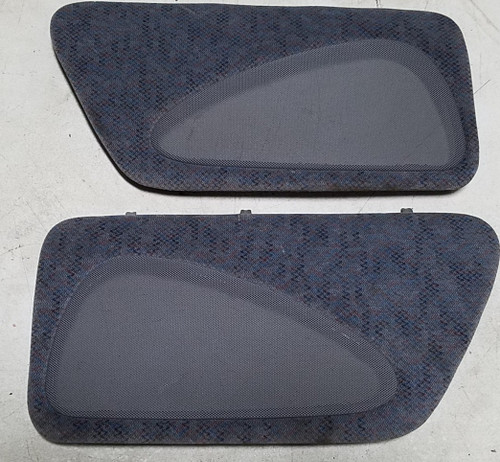 1996 1997 Thunderbird Cougar Rear Speaker Cover Set Blue With Pattern