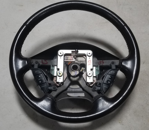 2003-2006 LINCOLN LS Espresso Steering Wheel with Cruise Switch Horn Spring